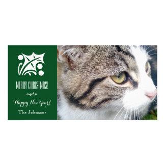Le carte photo | de chat de Noël ajoutent votre Photocarte Personnalisée