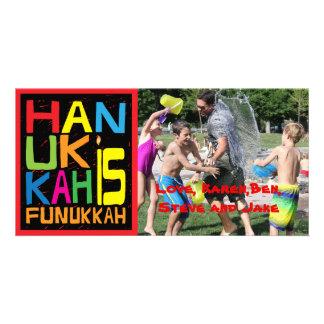 """Le carte photo de Hanoukka/enveloppe """"Hanoukka est"""