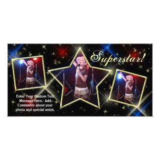 Le carte photo fait sur commande de superstar, la photocarte personnalisée