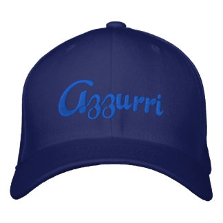 Le casquette bleu de logo d'Azzurri pour l'Italien Chapeaux Brodés