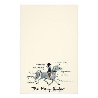 Le cavalier de poney papier à lettre