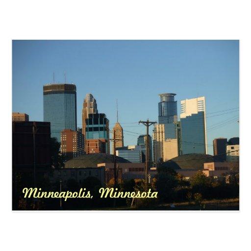 Le centre ville carte postale de Minneapolis, Minn