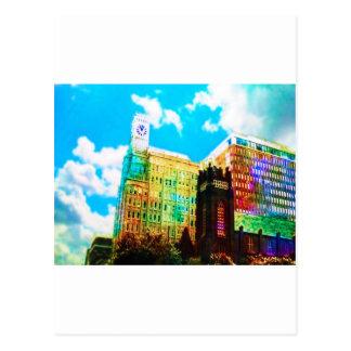 le centre ville vibrant carte postale