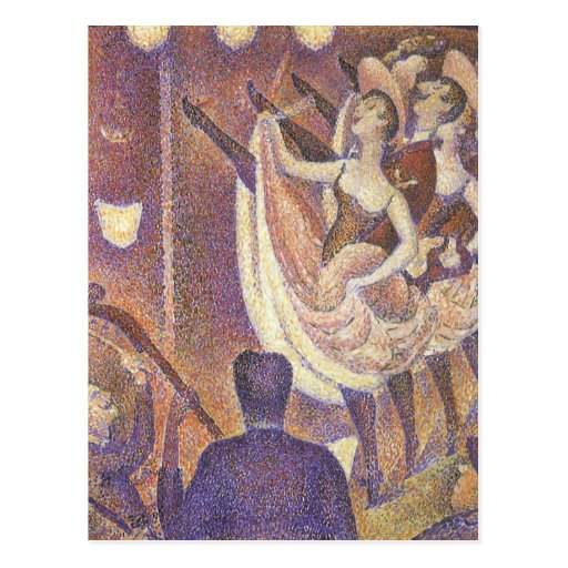 Le Chahut, The Can-Can by George Seurat Post Card