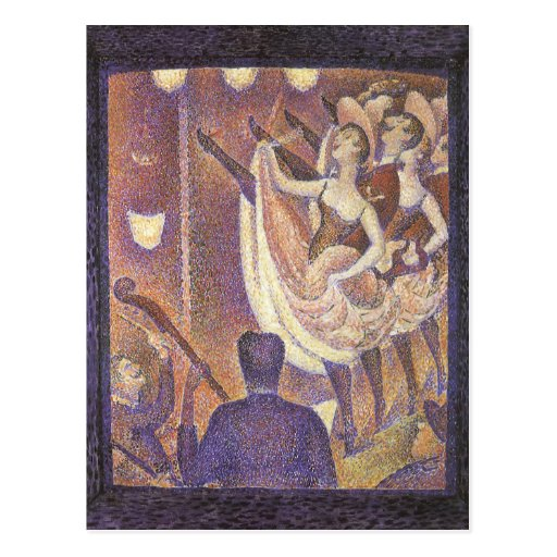 Le Chahut, The Can-Can by George Seurat Post Cards