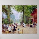 Le chalet du Cycle dans le Bois de Boulogne Poster