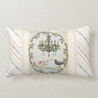 """Le Chandelier"" Pearls and Roses  Pillow"
