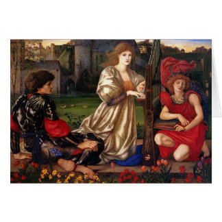 Le Chant D'Amour, Edward Burne-Jones, 1868-1877 Card