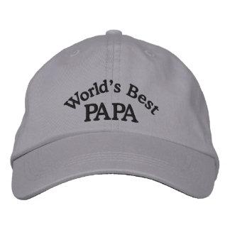 Le chapeau brodé le meilleur par papa du monde