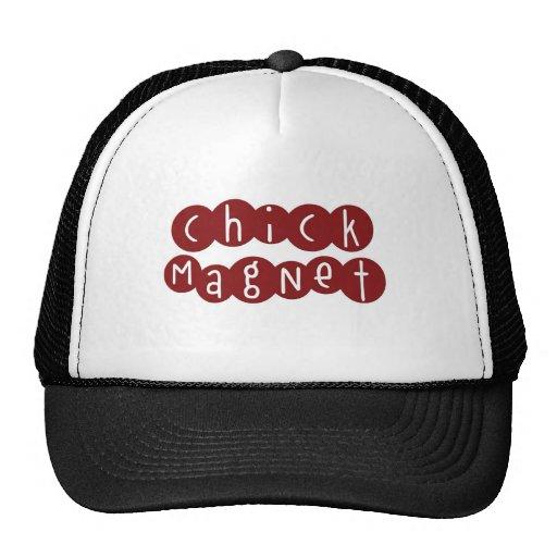 Le chapeau des hommes d'aimant de poussin casquettes de camionneur