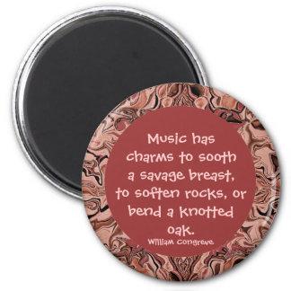 le charme de la musique magnet rond 8 cm
