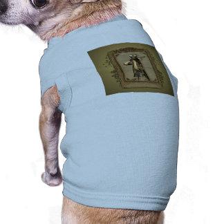 Le chasseur, gecko drôle et mignon avec l'arme à vêtements pour chien