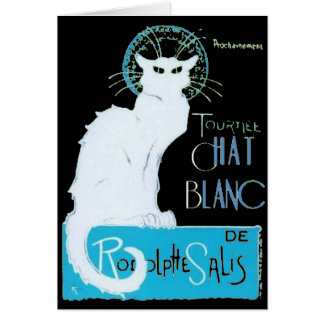 Le Chat Blanc Parody Of Le Chat Noir Card