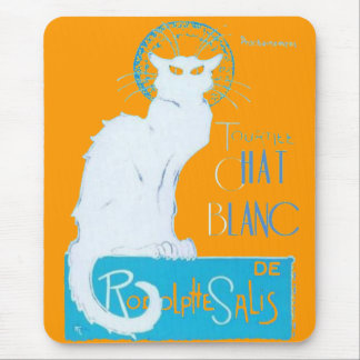 Le Chat Blanc Parody Of Le Chat Noir Mouse Pad