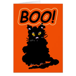 """Le Chat Claude's  Cousin """"Boo"""" Halloween Card"""