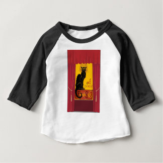 Le Chat D'Amour with Theatrical Curtain Border Baby T-Shirt