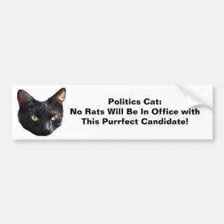 Le chat de la politique aucuns rats sera dans le autocollant de voiture