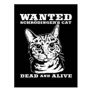 Le chat de Schrodinger a voulu des morts ou vivant Carte Postale