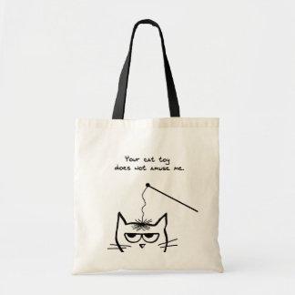 Le chat fâché ne s'amuse pas sac en toile budget