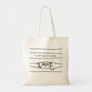Le chat fâché n'est pas coincé dans les abat-jour sac en toile budget