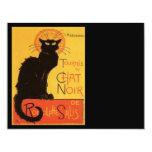 """Le Chat Noir 4.25"""" X 5.5"""" Invitation Card"""