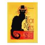 """Le Chat Noir - Action De Grâces 6.5"""" X 8.75"""" Invitation Card"""
