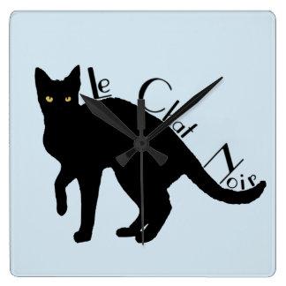 Le Chat Noir Black Cat French Clock