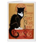 Le Chat Noir et Blanc Carte De Vœux