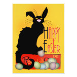 """Le Chat Noir - Happy Easter 6.5"""" X 8.75"""" Invitation Card"""