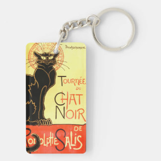 Le chat noir,Original billboard Keychain