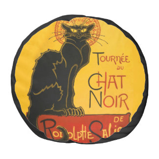 Le Chat Noir The Black Cat Art Nouveau Vintage Pouf