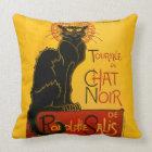 Le Chat Noir The Black Cat Art Nouveau Vintage Throw Pillow