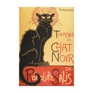 Le Chat Noir (the black cat) Canvas Print