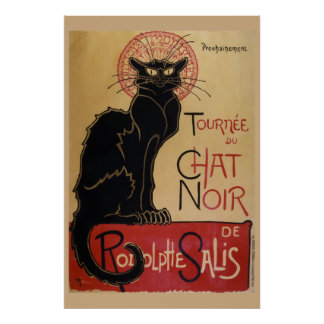 Le Chat Noir - The Black Cat Poster