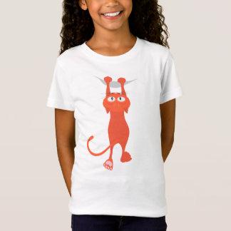 Le chat rouge est tombé vers le bas T-Shirt