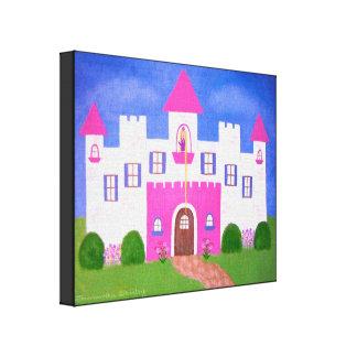 Le château de Rapunzel - 16x20 princesse Castle Impressions Sur Toile