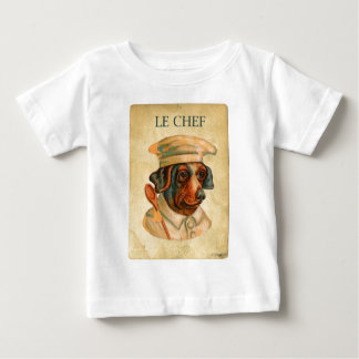 Le Chef Cooking Dog French Cook T-shirt