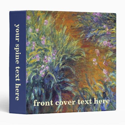 Le chemin à travers les iris par Claude Monet