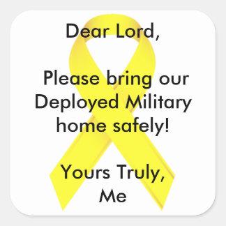 Le cher seigneur, apportent svp notre maison milit stickers carrés