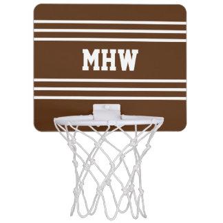 Le chocolat barre le mini cercle de monogramme mini-panier de basket
