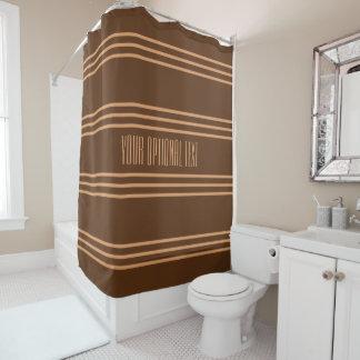 Le chocolat barre le rideau en douche fait sur