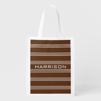 Le chocolat barre le sac réutilisable de sac réutilisable d'épcierie