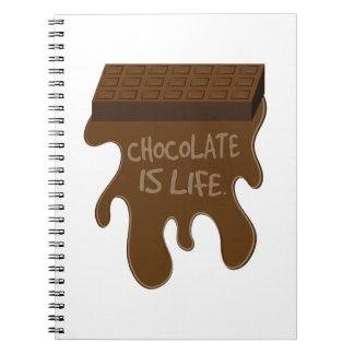Le chocolat est la vie carnets