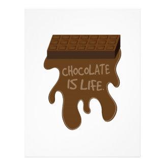 Le chocolat est la vie en-tête de lettre