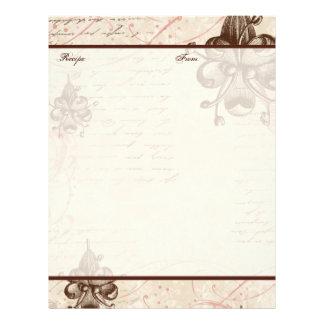 Le Chocolatier Family Heritage Recipe Pages Letterhead Design