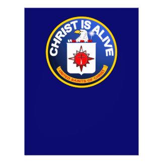Le Christ est vivant - icône de la C I A identique Prospectus Personnalisés