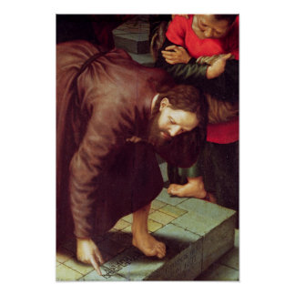 Le Christ et l adultère rentré par femme Posters
