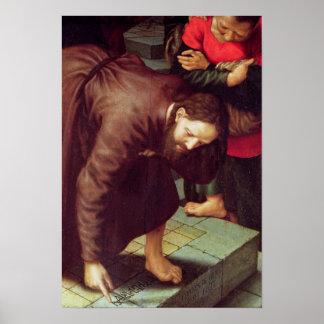 Le Christ et l'adultère rentré par femme Posters