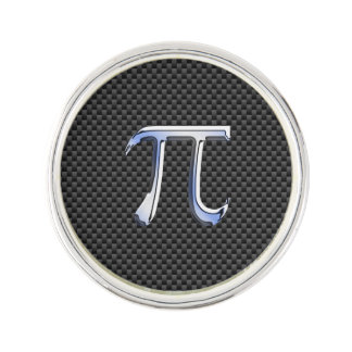 Le chrome aiment le symbole de pi sur le style de épinglette