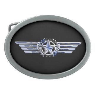 Le chrome privé général de pilote d'air aiment des boucles de ceinture ovales